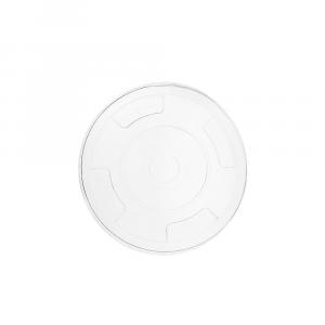 Coperchi piatti in PLA con pre-taglio per cannuccia - linea Premium