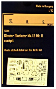 Gl.Gladiator Mk.I&Mk.II interior PE set