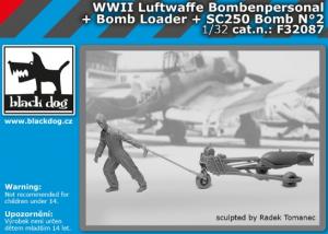 Luftw. WWII personel+bomb loader+SC250 No.2