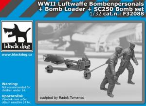 Luftw. WWII personel+bomb loader+SC250 Set