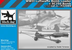 Luftwaffe WWII bomb loader+ bomb SC250