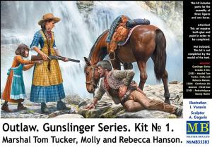 Marshal Tom Tucker, Molly and Rebecca Hanson