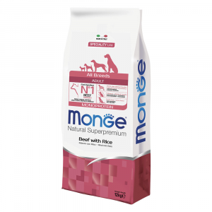 MONGE ALL BREED ADULT MONOPROTEIN MANZO E RISO