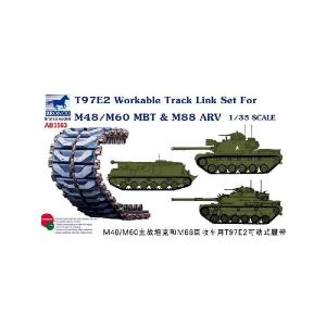 T97E2 WORKABLE TRACK LINK SET FOR M48/M60 MBT