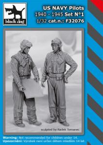 US NAVY pilots 1940-45 set No.1 (2 fig.)