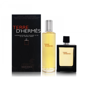 Terre D'hermes Eau De Parfum Spray Ricaricabile 30ml Set 2 Parti