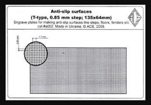 Anti-slip surfaces T-type