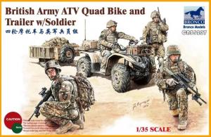 British Army ATV Quad Bike & Trailer
