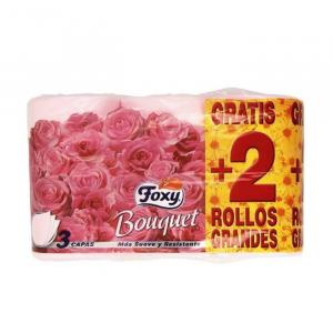 Foxy Bouquet Color Carta Igienica 3 Strati 4 + 2 Rotoli