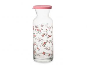 Caraffa vetro cilindrica coperchio silicone
