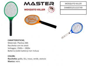 Racchetta fulmina insetti 2 batterie AA