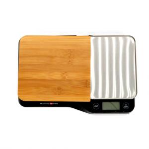 Bilancia digitale cucina nera legno inox