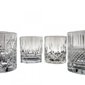 Bicchieri liquore spirits vetro cristallino 35cl assortiti 4 pezzi