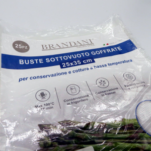 Buste sottovuoto goffrate bagnomaria 25x35 25pz