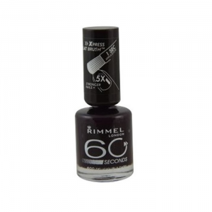 Rimmel London 60 Seconds Nail Polish 600 Deliciously Dark 8ml