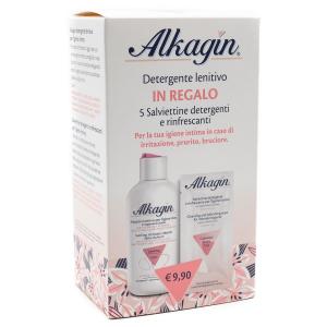 ALKAGIN Detergente Intimo 250 ml + 5 Salviettine detergenti rinfrescanti