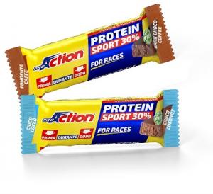 Proaction Protein Sport 30% Barretta Caffè Cioccolato e Cocco 35G
