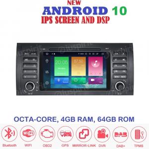 ANDROID 10 autoradio navigatore per BMW E39, BMW X5 E53, BMW M5, BMW E38 GPS DVD WI-FI Bluetooth MirrorLink