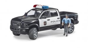 BRUDER RAM 2500 POLICE CON POLIZIOTTO 02505