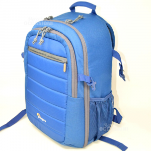 Backpack Blue In Fabric Lowepro,height 40 Cm