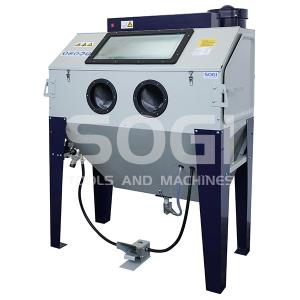 Sabbiatrice cabina di sabbiatura pallinatrice professionale con aspiratore SOGI S-120
