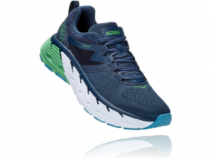 Hoka one one Gaviota 2 Man running Moonlit-Ocean/Black-Iris