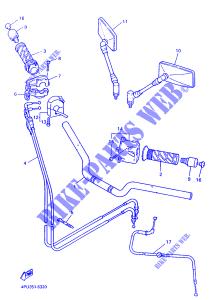 Manopola SX Yamaha FZR-R/Fazer/Thunder Cat/Majesty