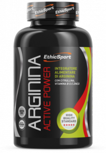 EthicSport Arginina Active Power Barattolo Da 90 Cpr Da 1500 mg
