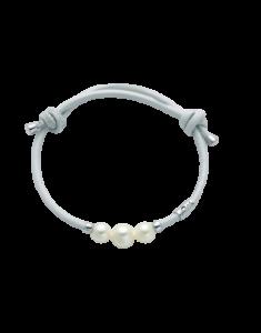 Bracciale Miluna In Pelle e Perle PBR2751