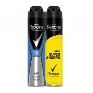 Rexona Men Motion Sense Cobalt Dry Deodorante Spray 2x200ml