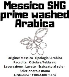 Messico SHG prime washed Arabica 200gr in grani tostatura media/scura