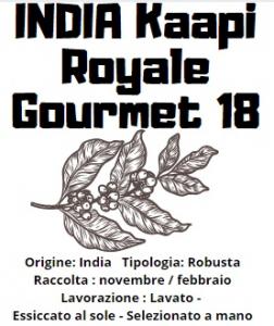 India Kaapi Royale Gourmet 18 caffè specie robusta 200gr