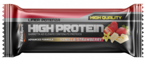 EthicSport HIGH PROTEIN Vanilla-Strawberry - 18 barrette da 55 g