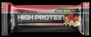 EthicSport HIGH PROTEIN Vanilla-Strawberry - 18 barrette da 55 g