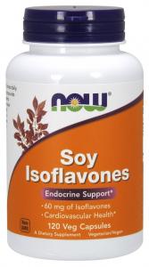 Now Isoflavonas De Soja 60 Mg 120 Vcaps