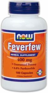 Now Feverfew 400 Mg 100 Caps