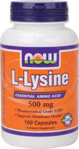 Now L-Lysine 500 Mg 100 Tabs
