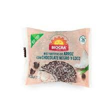 Biográ Torta De Arroz Con Chocolate Negro y Coco Monodosi