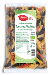Granero Macarrones Con Tomate y Albahaca Bio 500g