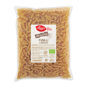 Granero Fusilli De 4 Cereales Sin Gluten Bio 500g