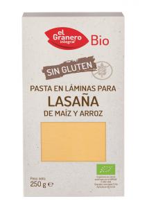 Granero Laminas Lasaña Sin Gluten Bio 250g