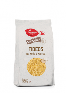 Granero Fideos De Maiz y Arroz Sin Gluten Bio 500g