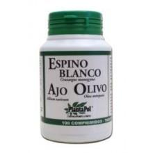 Planta Pol Espino Blanco Ajo Olivo 550 Mg 100 Comp