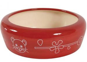 Zolux - Scodella in Ceramica per roditori, 150 o 350 ml, Colore Ciliegia
