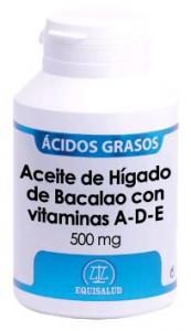 Equisalud Aceite Higado De Bacalao Vitaminas A-D-E 500 Mg