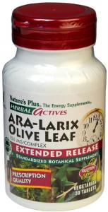 Natures Pl Ara-Larix Olive Leaf 30 Comp