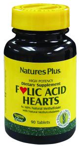 Natures Pl Folic Acid Hearts 90 Comp