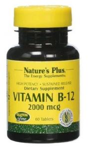 Natures Pl Vitamina B12 2000 Mcg 60 Comp