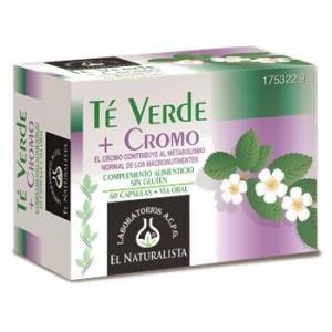 El Natural Te Verde Cromo 60 Caps