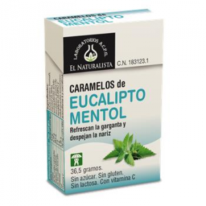 El Natural Caramelos Eucalipto - Mentol Exp 20 Unidades